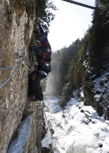 via ferrata hivernale